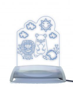 3 Friends, Lion, Bear and Hedgehog Night Light