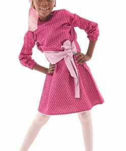 pink long sleeve winter african dress