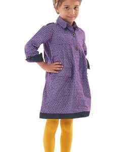 long sleeve purple toddler girl dress