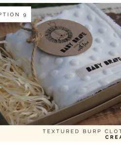 Cream Textured Burp Cloth
