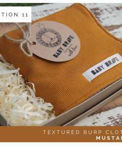 Mustard Textured Burp Cloth