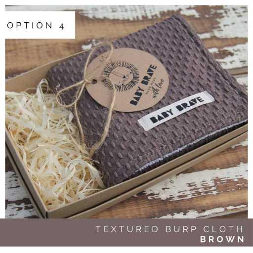 Brown Textured Burp Cloth