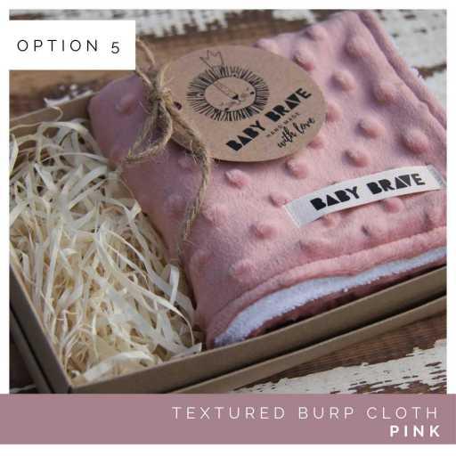 Pink Textured Burp Cloth