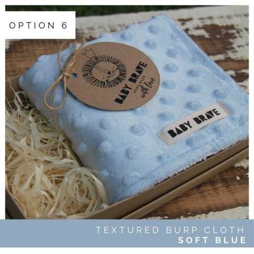 Soft Blue Textured Burp Cloth