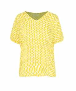 The Hannah Grace Maternity Yellow Drop Sleeve Blouse