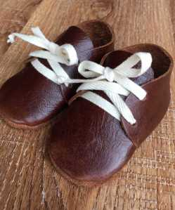 Soft Leather Baby Shoes - Dark Brown