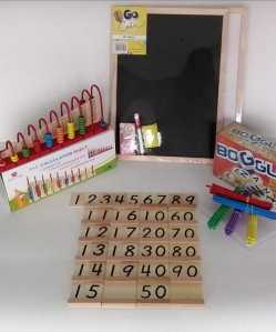 Math and Spelling set 5piece