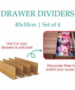 Drawer dividers are a great gift to help pregnant moms organize baby clothes, nappies and accessories.
