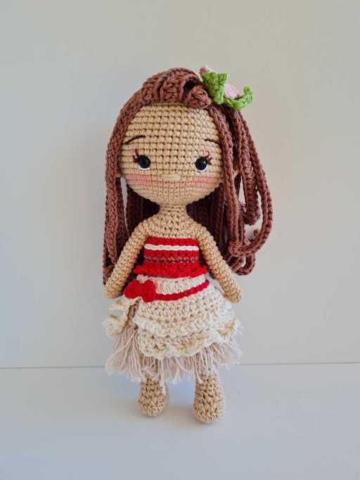 crochet moana doll