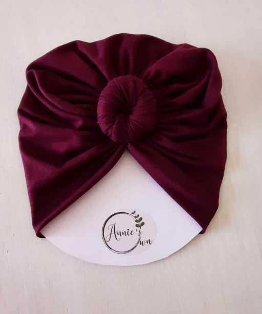 Maroon Turban Hat