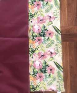 Square Flamingo Print Vegan Leather Reversible Playmat