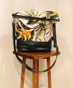 Yellow Leaf Medium Size Genuine Leather Bag