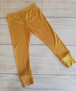 mustard unisex leggings