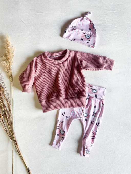 Pink Llama Luxury Knit Set