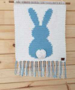 Wall Hanging - Bunny - Blue