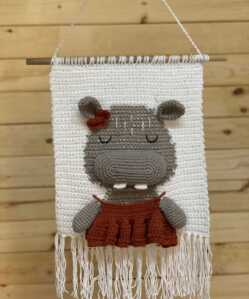 Wall Hanging - 3D Hippo